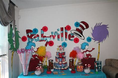 Dr Seuss Baby Shower Decorations by Dr Seuss Baby Shower Ideas