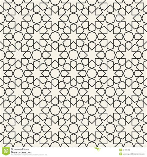 islamic pattern wall seamless geometric islamic pattern cartoon vector
