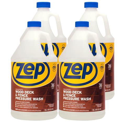 zep  gallon deck  fence cleaner case   zudfw