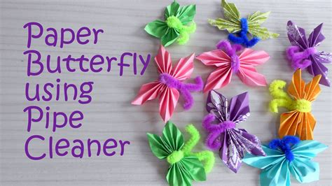 crafts using pipe cleaners paper butterfly using pipe cleaner tutorial craft