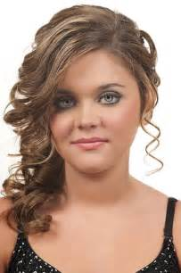 Prom updo hairstyles with side bangs and curly hairstyles on