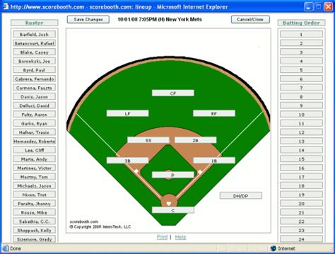 baseball fielding lineup template softball field position sheets images