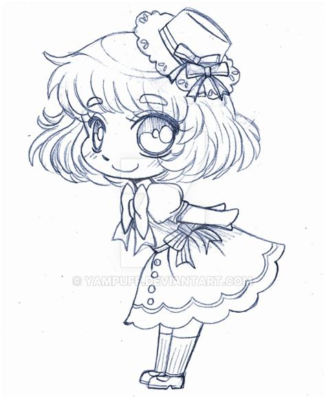 chibi christmas coloring pages little sailor chibi sketch by yampuff on deviantart