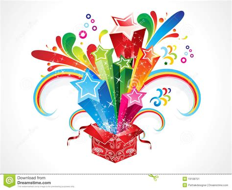 abstract colorful magic box cartoon vector cartoondealercom