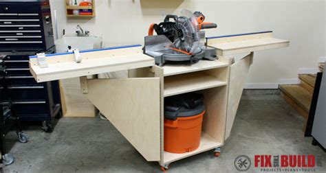 saw station plans how to build a mobile miter saw station part 1