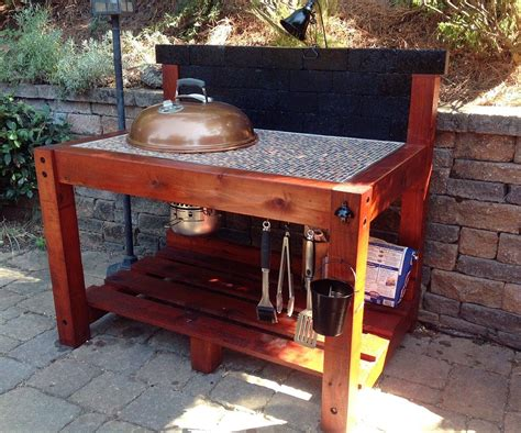 bbq table weber bbq table
