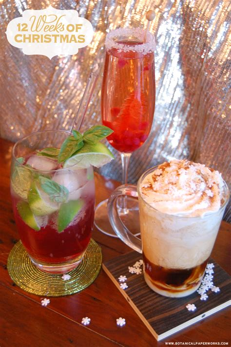Christmas Holiday Cocktail Recipes Three Delicious
