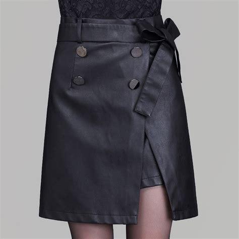 High Waist A Line Mini Skirt high waist black a line breasted mini skirt