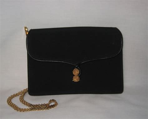 Gucci Evening Bag Purses Designer Handbags And Reviews At The Purse Page by Gucci Evening Bag Clutch Purse Black Vintage 1960s Italy