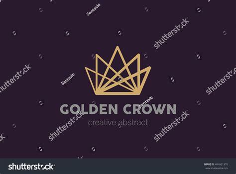 vector crown logo design abstract logo template vector linear crown abstract logo design vector stock vector