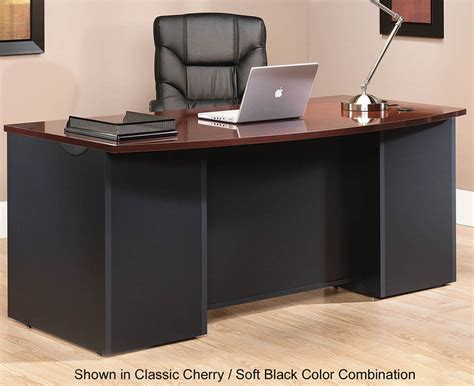 modular office desk collection  bow front desk shell