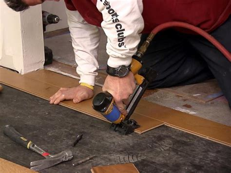 Installing Hardwood Floors Next To Existing Hardwood How To Install An Engineered Hardwood Floor How Tos Diy