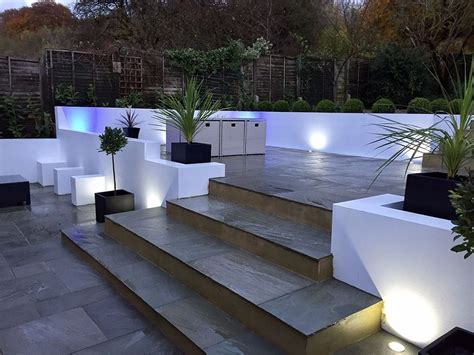 Patio Lights In Slabs Premium Light Grey Smooth Indian Sandstone Paving Slabs
