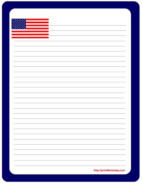 printable flag stationery free printable 4th of july stationery