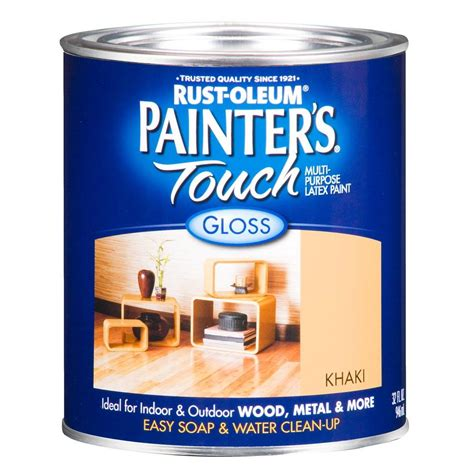 rust oleum painter s touch 32 oz ultra cover gloss khaki green general purpose paint of