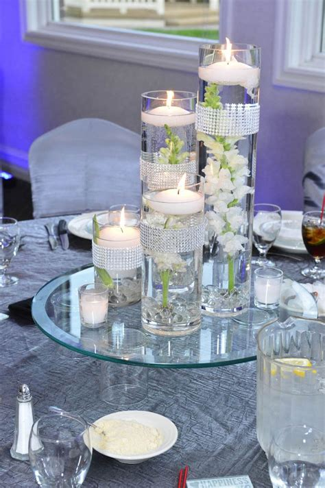 Vase And Candle Centerpieces Floating Wedding Centerpieces Wedding Ideas R L Cylinder