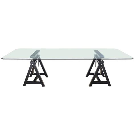 Glass Top Conference Table Large Glass Top Conference Table At 1stdibs