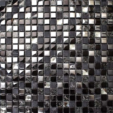 metal glass backsplash tile crackle