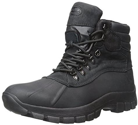 mens winter boots size 9 kingshow s waterproof leather boots snow winter black