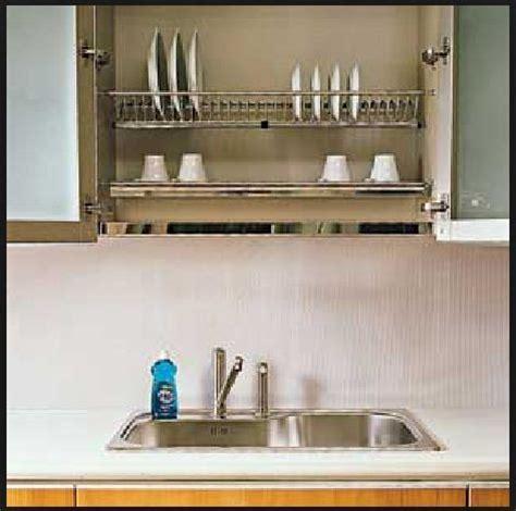 built in dish drying rack kitchen interior design