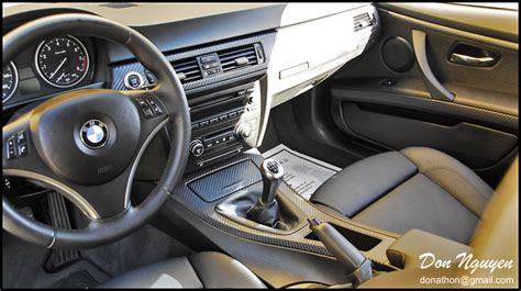 Car Interior Vinyl Wrap by Bmw E92 328i Coupe Matte Carbon Fiber Interior Vinyl