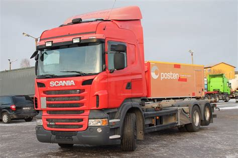 used scania r480 lb6x2hnb containerframe trucks year 2010