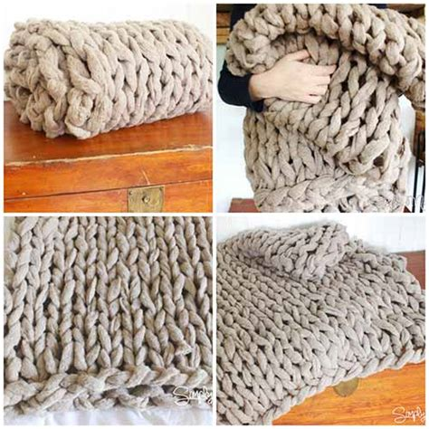 arm knit how to arm knit a cosy blanket in 45 minutes mental scoop