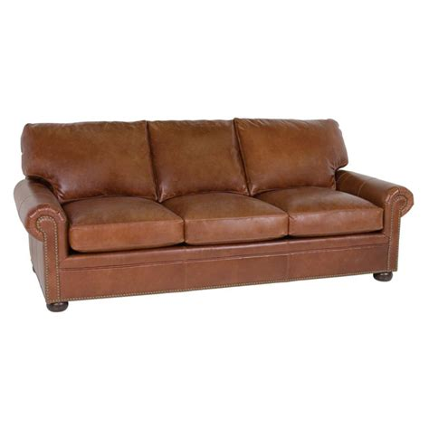 Classic Leather Sofa Classic Leather 3513 Leather Sofa Mccall Sofa Discount Furniture At Hickory Park Furniture Galleries