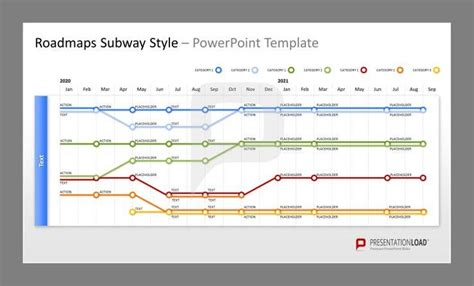 subway template roadmap subway plan powerpoint templates presentationload
