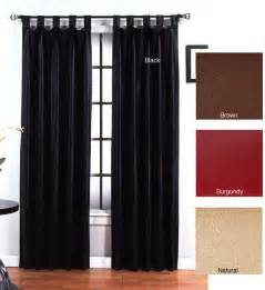 45 Inch Curtain Panels Faux Leather Metro Tab Top 84 Inch Curtain Panel Pair