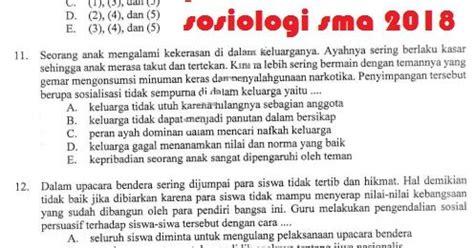 Detik Usbn Sma Sosiologi 2017 2018 prediksi soal un sma sosiologi 2018 info pendidikan