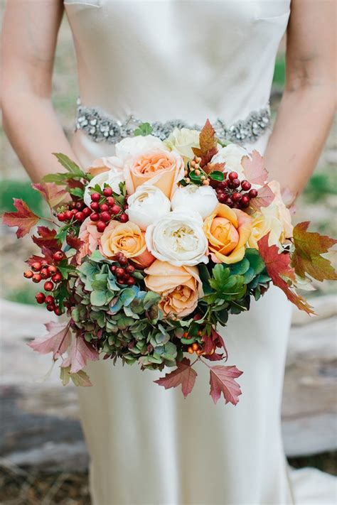 Fall Wedding Bouquets by Seasonal Autumn Wedding Flowers Ideas