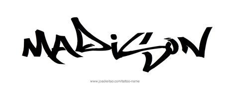 madison tattoo name designs