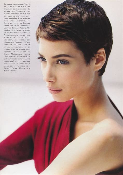 christy turlington short hairstyle christy turlington short hair dor 233 pinterest