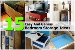 15 easy and genius bedroom storage ideas