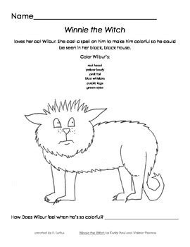'Winnie The Witch' Coloring Activity by Loft Education