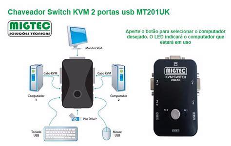 chaveador kvm usb switch 2 chaveador switch kvm 2 portas usb mt201uk por r 61 00