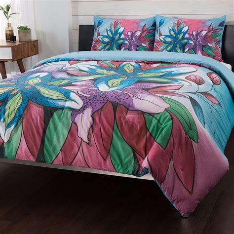 lily comforter set anuschka at home quot lily quot 100 cotton 3 piece comforter set