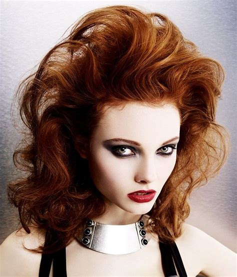curly hairstyles volume long red wavy coloured volume womens hairstyles for women