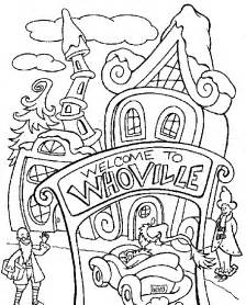 dr seuss grinch coloring pages christmas