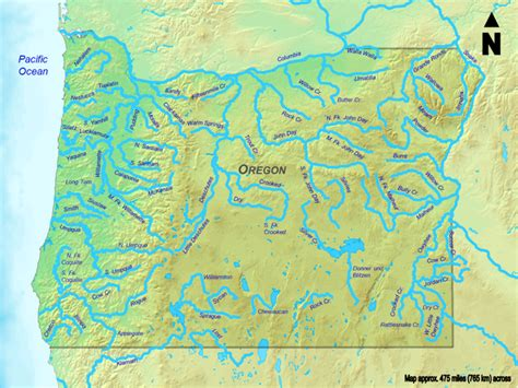 map of oregon rivers template streams of oregon map