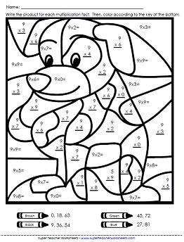 easy multiplication coloring pages math color worksheets multiplication worksheets basic