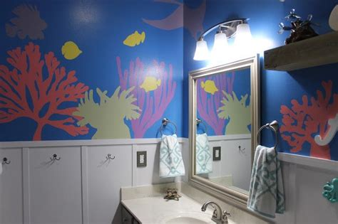 hometalk diy the sea themed kid s bathroom