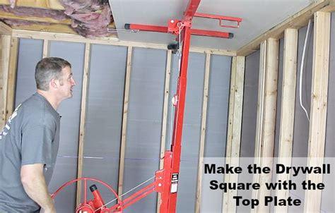 How To Hang Drywall On Ceilings Home Repair Tutor Hang Drywall Ceiling