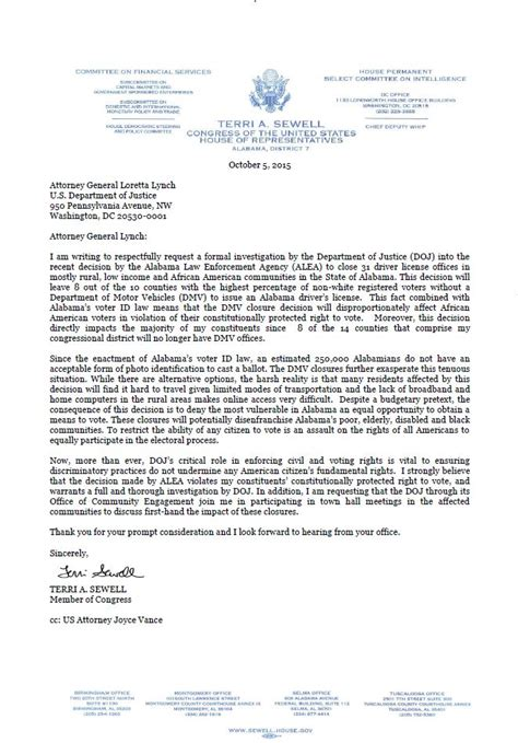dmv application form sewell releases letter to attorney