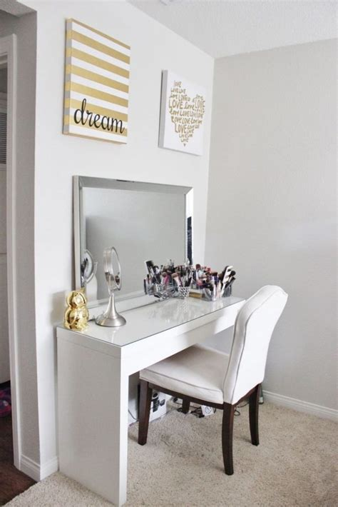 Diy Makeup Desk Ikea Best Vanity Table Ideas On Pinterest White Makeup Desks