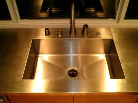 Integrated Stainless Steel Sink And Countertop by 1000 Images About Stainless Steel Kitchen Countertops On