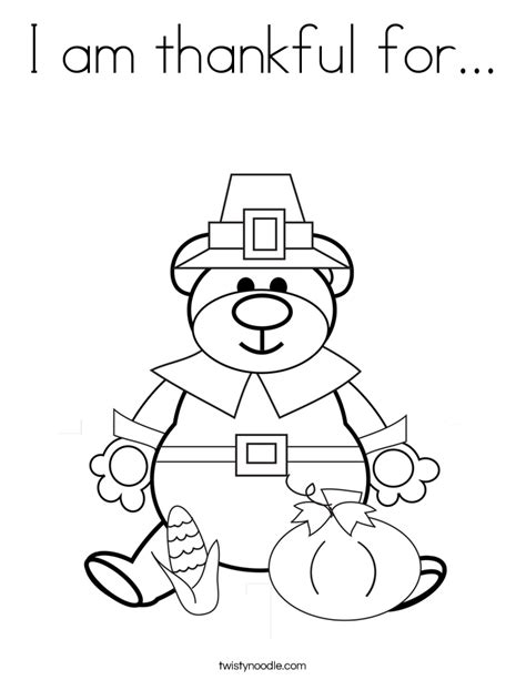 thankful for ears coloring page