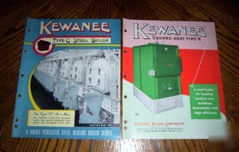 rare   kewanee boiler  catalogs colorful