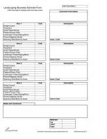 Landscape Design Estimates Landscaping Business Estimate Form Hashdoc